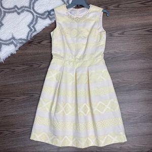Maggy London Embellished Striped Dress Size 4